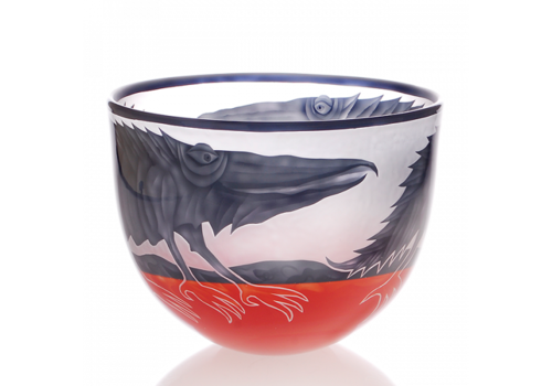 "Art Objects BOWL - Scale, 2-colors, ""Fish"" / ""Bird"" / ""Alligator"""