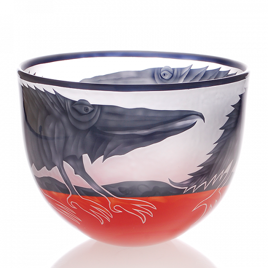 Borowski  BOWL - two-coloured – Alligator/Bird/Fish-1