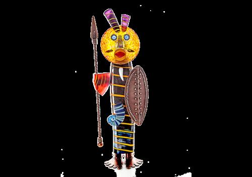 Art Objects MASSAI - Objekt, zwart, rood, amber
