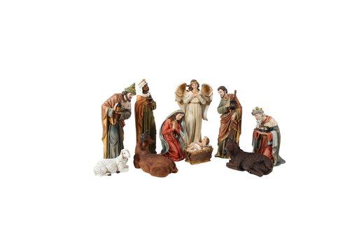 Angels & Co Nativity Set x 11 images 60 cm high