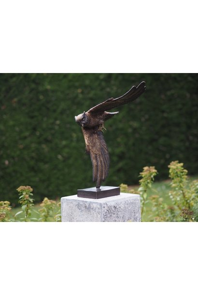 Bronze statue: Owl delivered without socle