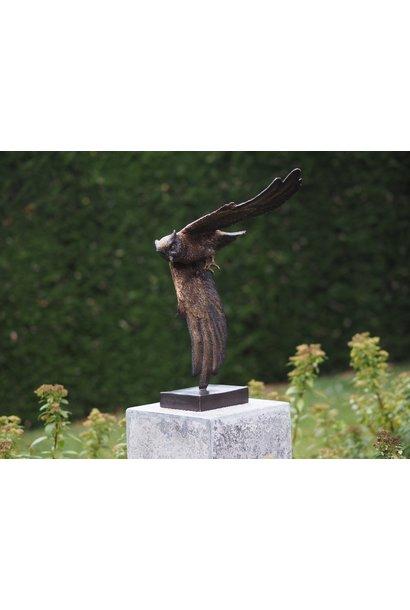 Bronzen Beeld: Uil zonder sokkel geleverd