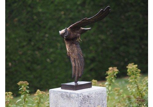 BronzArtes Eine Bronzestatue: Eule ohne Sockel geliefert