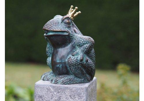 BronzArtes Bronze statue: King frog delivered without pedestal
