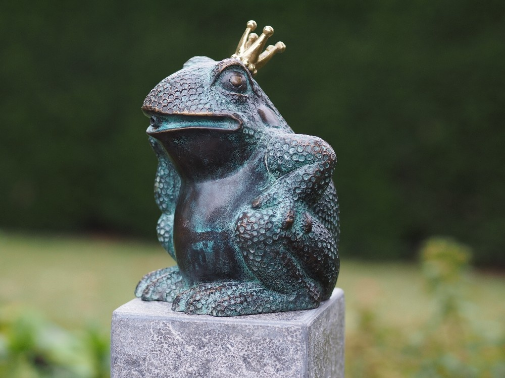 Hand Painted Ceramic Angel Frog
