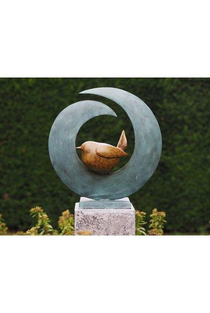 Moderne vogel in cirkel