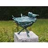 BronzArtes Bronzen Beeld: Prachtige vogelbad zonder steen geleverd