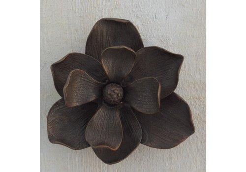BronzArtes Bronze statue:  Door knocker as flower