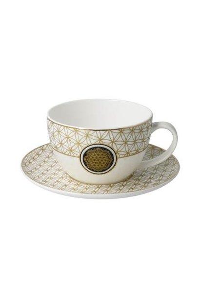 Blume des Lebens - Tee-/Cappuccinotasse