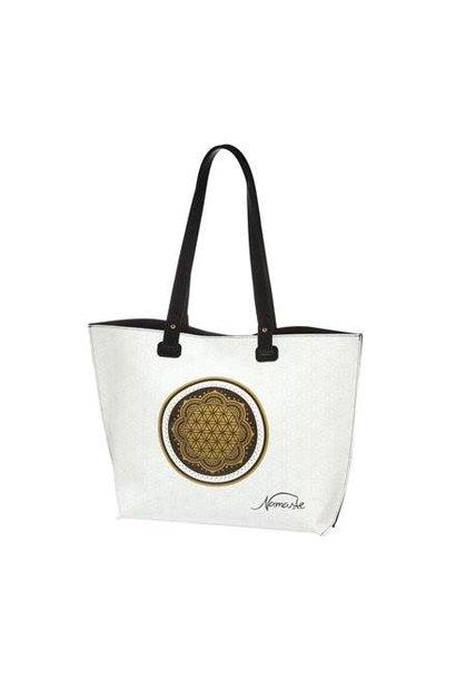 Blume des Lebens Weiss¸ - Handtasche
