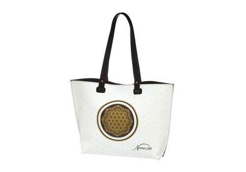 Lotus Flower of Life White - Bag