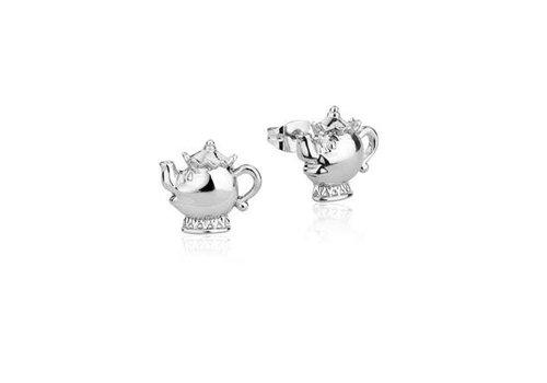 Die Schöne und das Biest Mrs. Potts - Stud Earrings White Gold