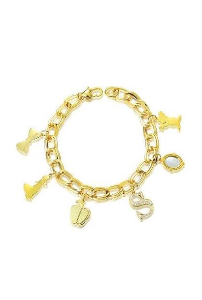 Schneewittchen - Charm Armband Gold