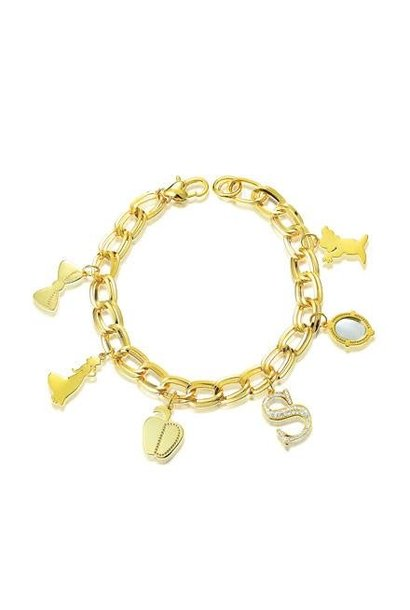 Snow White - Charm Bracelet Gold