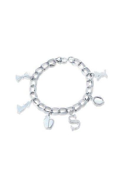 Snow White - Charm Bracelet White Gold