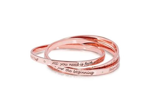 Tinker Bell Interlocking Bangles Rose Gold