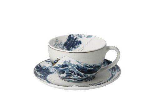 Katsushika Hokusai Die Welle - Tee-/Cappuccinotasse