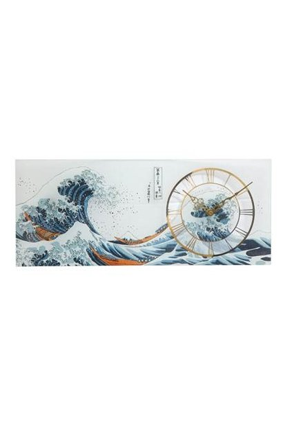 The Great Wave - Clock