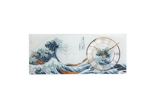 Katsushika Hokusai Die Welle - Wanduhr