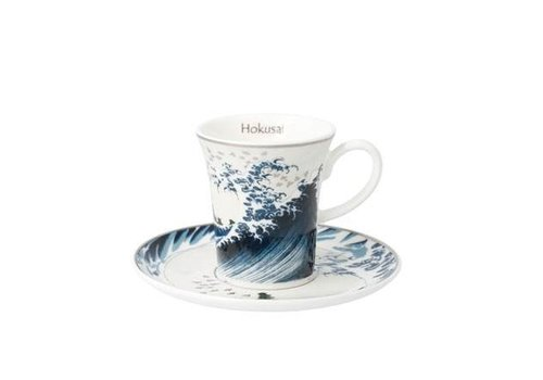 Katsushika Hokusai Die Welle II - Espressotasse