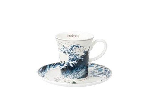 Katsushika Hokusai Great Wave II - Demitasse
