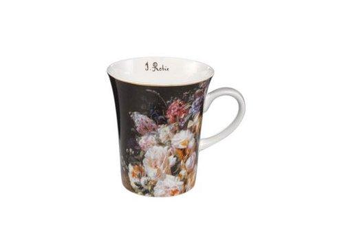 Jean Baptiste Robie Still Life with Roses - Artist Mug