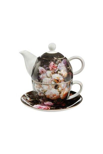 Stillleben mit Rosen - Tea for One
