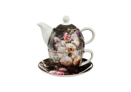 Jean Baptiste Robie Stillleben mit Rosen - Tea for One