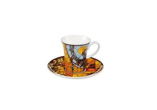 Louis Comfort Tiffany Peacock - Demitasse