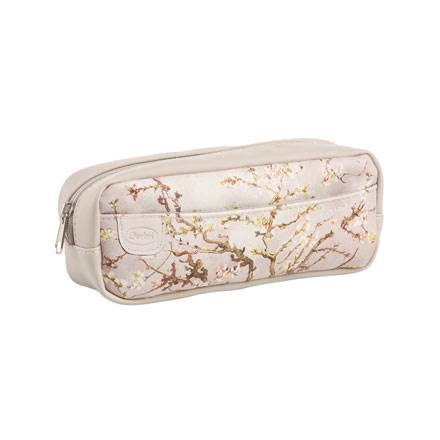 A Quality Goebel Product:  Almond Tree Silver - Makeup Bag-1