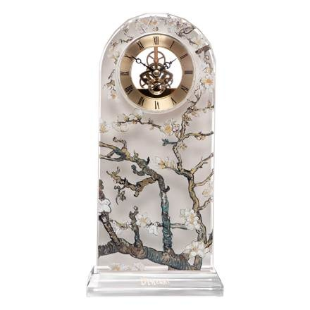A Quality Goebel Product:  Almond Tree Silver - Deskclock-1