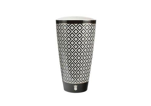 Black and White Diamonds - Vase