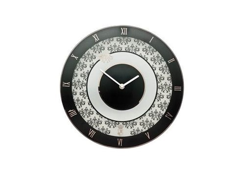 Black and White Floral - Clock