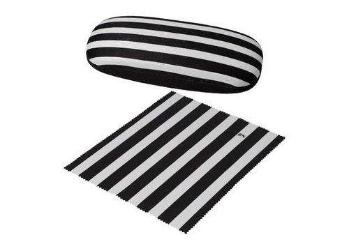 Black and White Stripes - Brillenetui