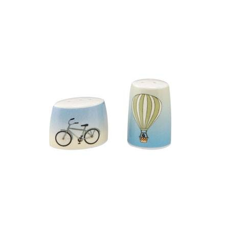 A Quality Goebel Product:  A. the Clouds/Bicycle - Salt und Pepper-1