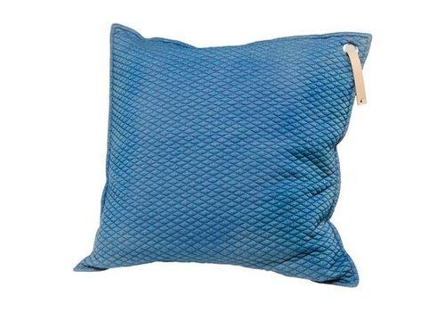 Scandic Home Aurora Blue - Kissen mit Ledergriff