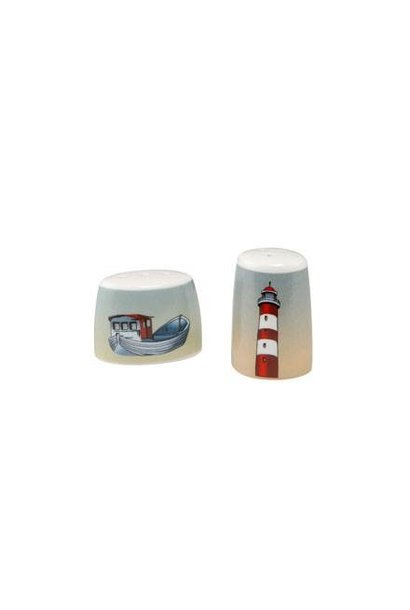 Lighthouse/Fishing Boat - Salt & Pepper