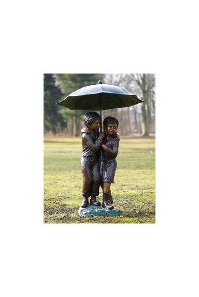 2 Children under umbrella