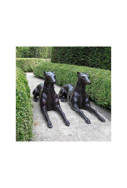 Paar liegende Hunde