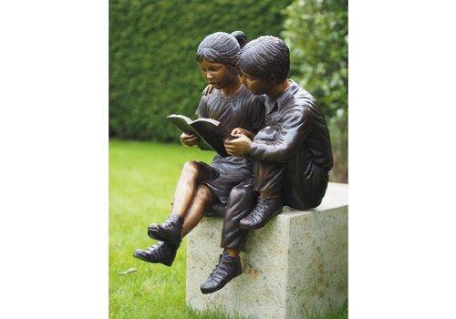 BronzArtes 2 lesende Kinder