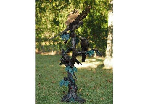BronzArtes Papageien auf Baum