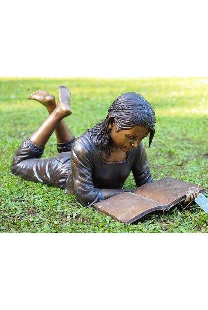 Lying reading girl