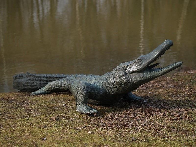 Bronze Statue: Alligator-1