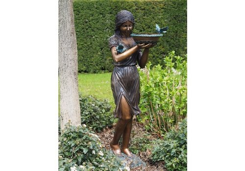 BronzArtes Woman with bowl fountain