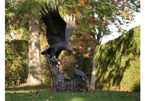 BronzArtes Adler mit Nest