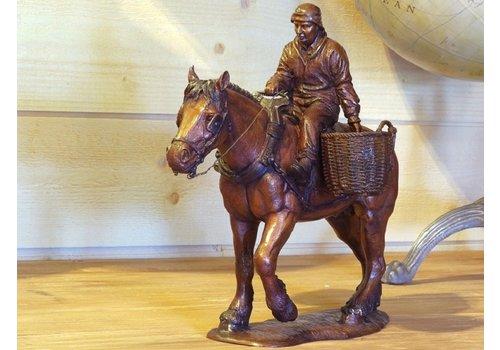 BronzArtes Garnaalvisser te paard