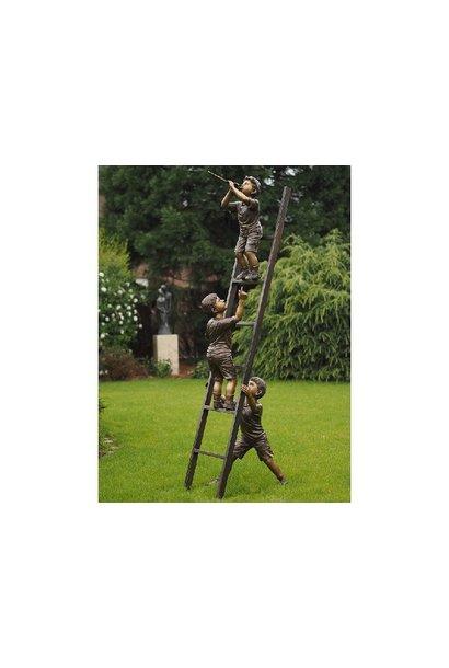 3 Children on ladder