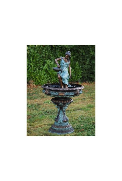 Woman with pitcher fountain
