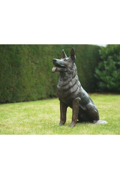 Sitzender Hund
