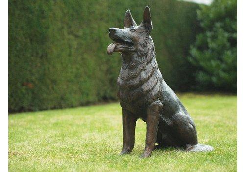 BronzArtes Zittende hond